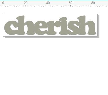 Cherish  mini word 82 x 17 mm pack of 10