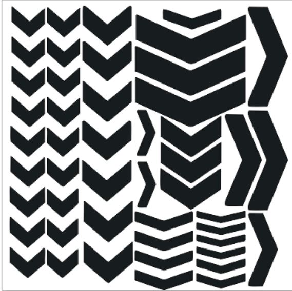 Chevrons 200 x 200 sold in 3\'s