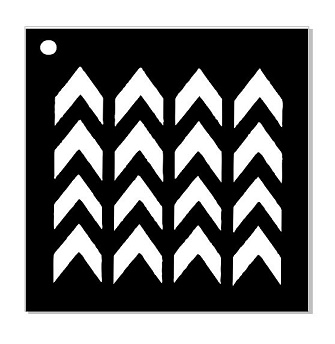 Mini stencil  chevron   100 x 100 min buy 5