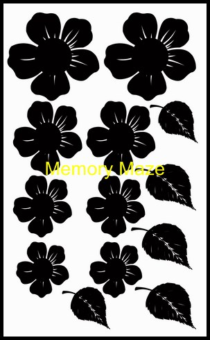 chipboard flowers 1 for dimensional work 110 x 180 min buy 3 Mem