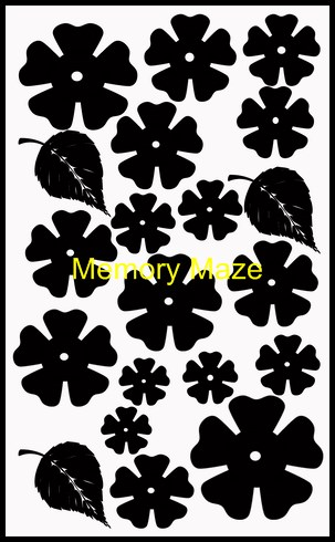 chipboard flowers 3 for dimensional work 110 x 180 mm min buy 3