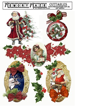 Christmas & vintage ephemera& greetings,frames, cuttable,min buy