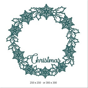 Christmas Wreath 200 x 200   Min buy 3.