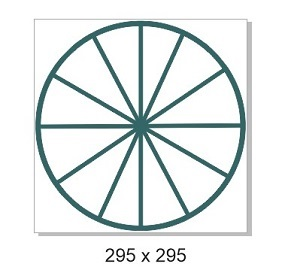 Circle divided,295 x 295mm Min buy 3