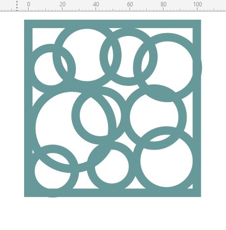 Mini stencils  circles on circles 100 x 100 min buy 5