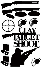 Clay target , skeet shoot,shotgun, 110 x 180mm Min buy 3