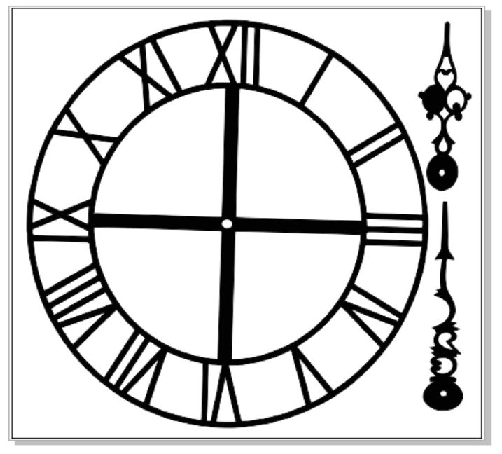 Clock face and hands 150 x 150 mm  vintage min buy 3