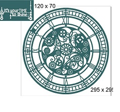 Cog Fancy clock frame 12x12. Its your time to shine. 2 piece