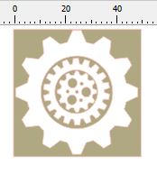 cog set card size 50 x 50mm pack of 10