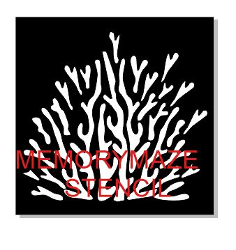 Coral seaweed stencil  multiple sizes available see drop down bo