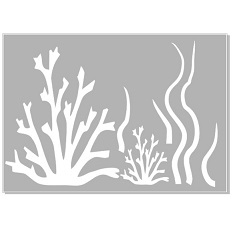 Seaweed,coral stencil   Min buy 3,Australian made