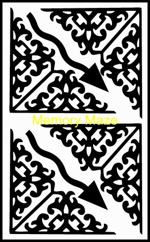corner flourishes and arrows 100 x 180 mm Min buy 3 Memory maze