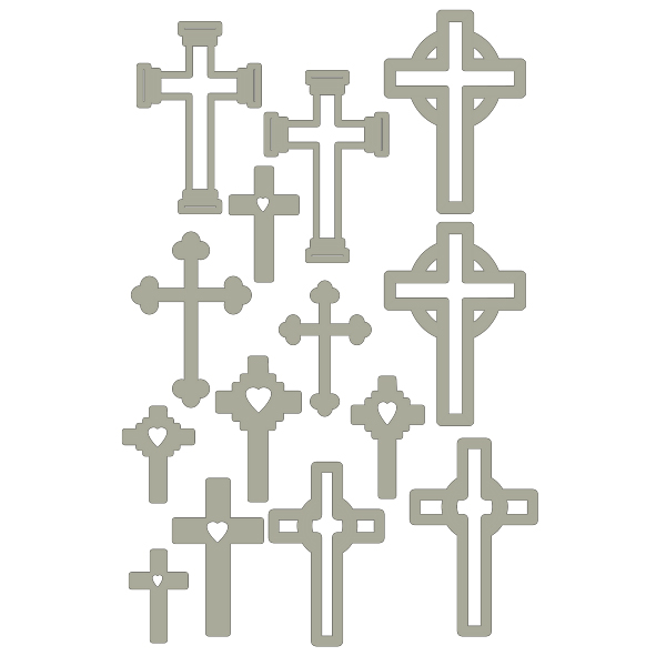 crosses 100 x 150- assorted crosses  min buy 3