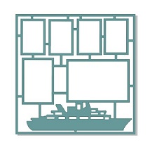 Cruise ship,multi frame 12 x 12,