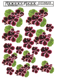 Geranium,Floral,for 3d. CArds, Journals, and scrapbooks , min bu