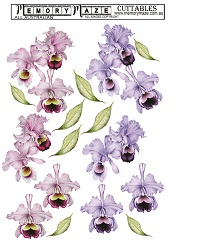 Orchid flowers, easy to 3d for your card journal or scrapbook,mi