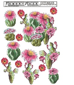 Succulents,cactus Floral,for 3d. Cards, Journals, and scrapbooks