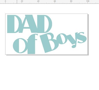 Dad of boys 100 x 50mm  minimum buy of 3   priced individually