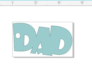 DAD  tag 52 x 30 mm Pack of 10