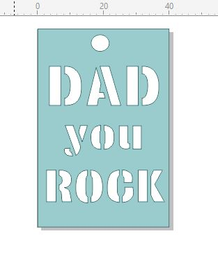 Dad you rock tag 40 x 60.mm pack of 10