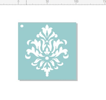 Mini Stencil damask1 stencil 100 x 100. Min buy 3