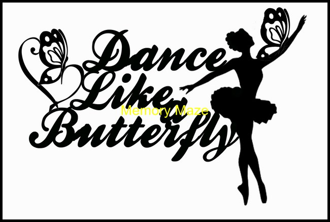 Dance like a butterfly 2  120 x 82 mm min buy 3 also available a