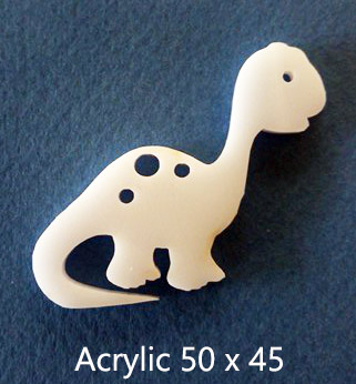 Dino Dinosaur Acrylic(brooch pack of 4)( Earrings pack of 10)