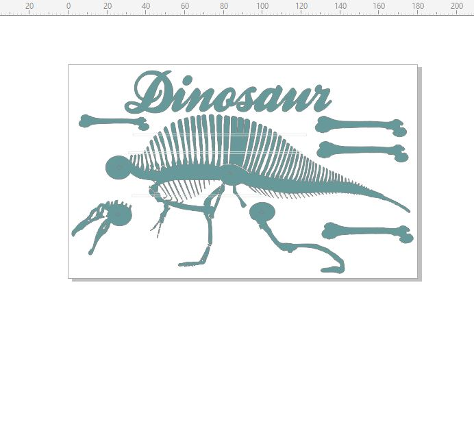 Dinosaur Skeleton 110 x 180 min buy 3
