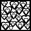 Double heart stencil  8x8 min buy 3