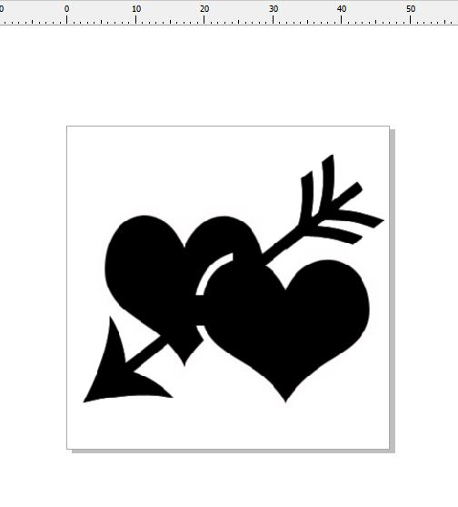 double hearts and arrow 54x 45 pack of 10