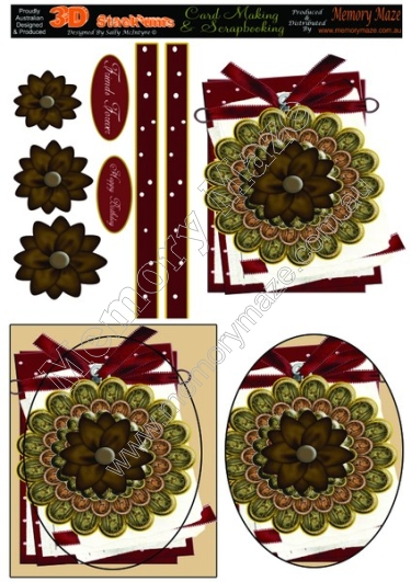 Brown Flower Card