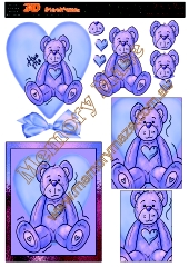 Teddy Bear purple