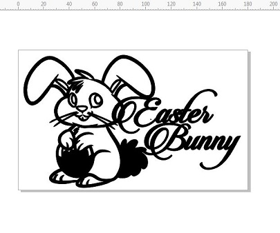 Easter bunny 110 x 180mm, min buy 3