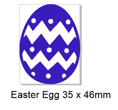 Easter Egg Acrylic 35 x 46 mm Pack of 5