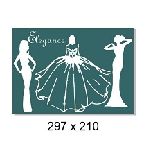 Elegant ladies 297x210mm. Min buy 3