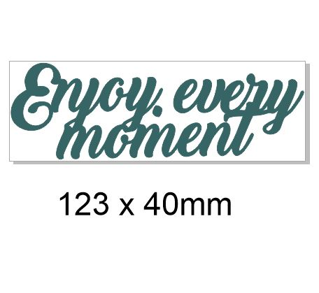 Enjoy every moment 125 x 42mm Pack of 5
