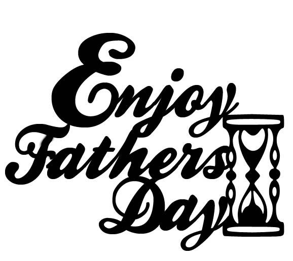 Enjoy fathers day  58 x 46 mm Pack of 10