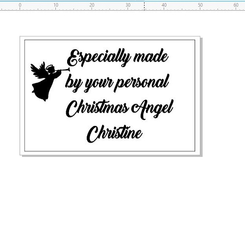 Especially made by your personal  christmas angel 50 x 30. 6mm p