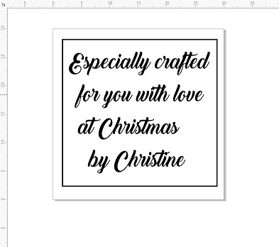 Especially crafted for you at christmas 30 x 30 mm with 6mm pers