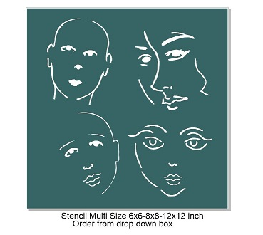 Face Stencil NO 1-Pick your size Min buy 3 of any size