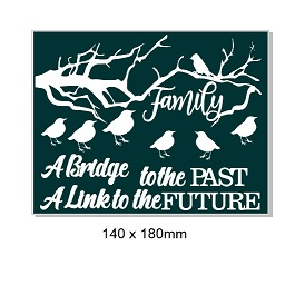 Family, Bridge to past link to future   Link 140 x 180mm Min buy