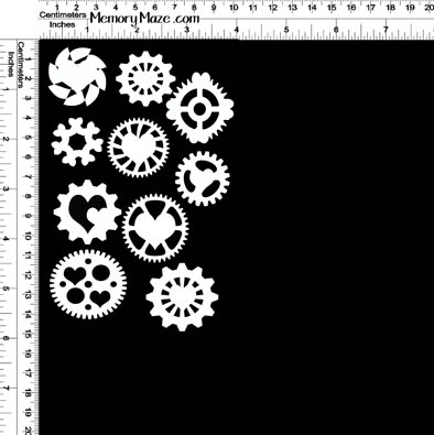 fancy cogs punked 100 x 150  memory maze MIN BUY 3