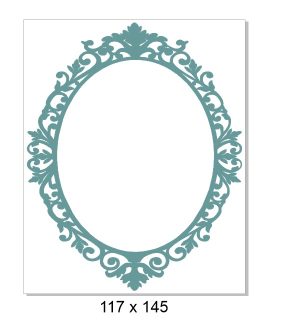 Fancy frame Vintage ,113 x 141mm,Pack of 3  min buy 3
