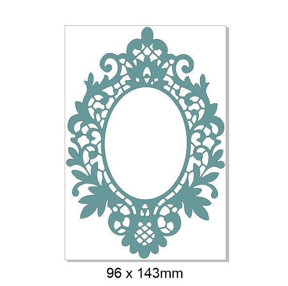 Fancy Frame,Vintage, 96 x 143   pack of 3
