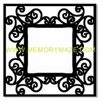 Fancy Frame  poly template  8x8 sold in 3's