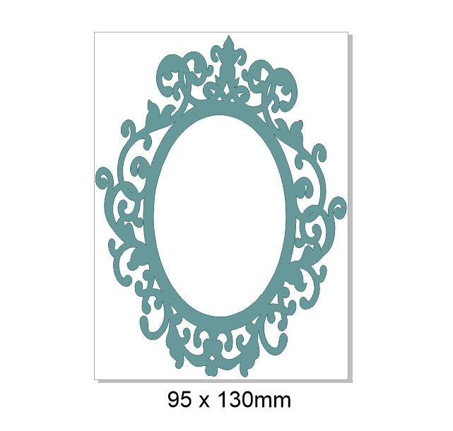 Fancy frame,Vintage, 95 x 130mm pack of 3,MIN BUY 3