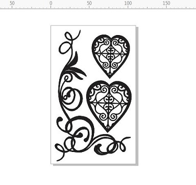 filigree hearts and flourish 110 x 180mm min buy 3