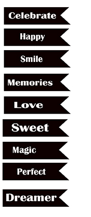 Flat banner words celebrate 100 x 150sold 3\'s