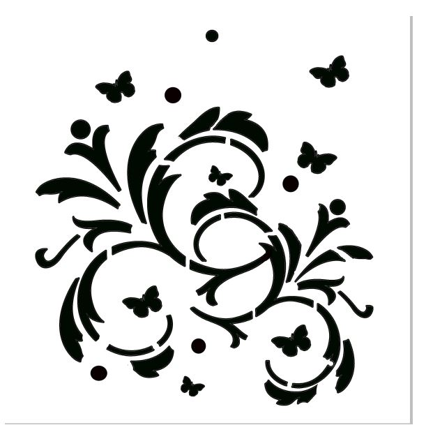 Floral poly template  8x8 sold in 3's