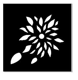 MINI STENCILS 100 X 100 FLOWER MINI BUY 5